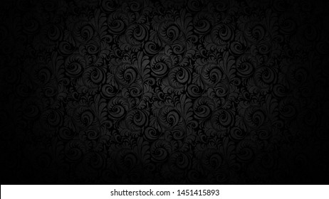 indian art mandela design in black background