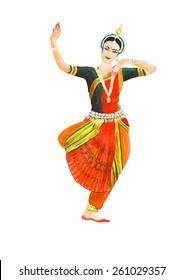 indian classical female dancer
