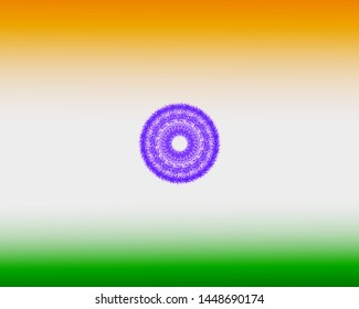 Indian Flag Colors abstract depiction