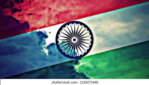 Indian Flag Hd Wallpaper Stock Illustration Royalty Free Stock