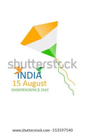 Indian independence day greetings tricolor stock illustration indian independence day greetings with tricolor m4hsunfo