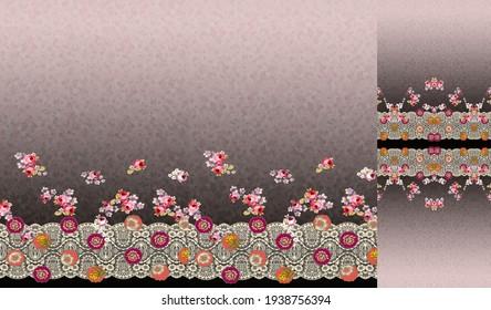 indian kurti digital background with flower