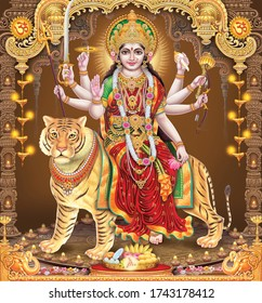 Indian Lord Jai Matadi with colorful background