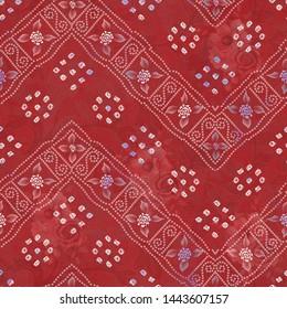 Indian patola style sari design digital print