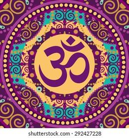 indian spiritual sign ohm