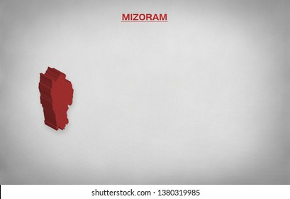 INDIAN STATE MIZORAM ELECTION RESULTS 3D illustration