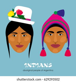 Indians - the indigenous people of South America. Man and woman.