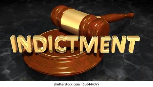 Indictment Law Concept 3D Illustration