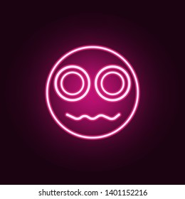 an indignant smiley icon. Elements of Web in neon style icons. Simple icon for websites, web design, mobile app, info graphics
