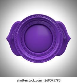 indigo Ajna third eye chakra base, 3d abstract symbol, isolated color design element