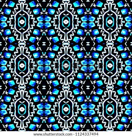 7c222d839f39 Indigo Tie dye shibori print. Seamless hand drawn boho pattern. Ink  textured japanese background