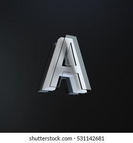 individual letter part of a 3d designed stylish alphabet on a blackgrey