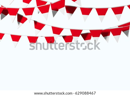 Indonesia Flag Festive Bunting Against Plain Ilustración de ...