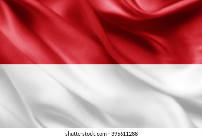 Indonesia flag of silk