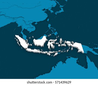 indonesia map images stock photos vectors shutterstock https www shutterstock com image illustration indonesia map blue background 3d rendering 571439629