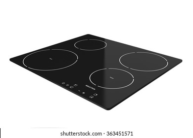 Induction cooktop stove on a white background