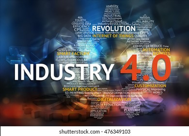 Industrial 4.0 Cyber Physical Systems concept , Gears , Internet of things network , smart factory solution , Manufacturing technology , automation robot text and icons with abstract gear background