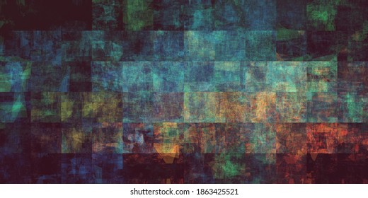 Industrial Colorful Grunge Background with Dirty Effect Art