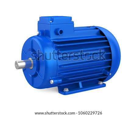 industrial electric motor isolated 3 d renderingのイラスト素材