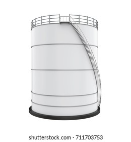 Industrial Oil Tank Isolated. 3D rendering