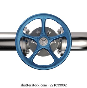 Industrial Pipe Valve. Top view
