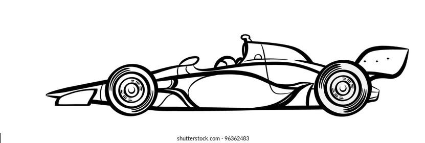 Indycar symbol . Silhouette.