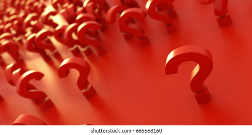 infinite question icons, original 3d rendering; business and marketing concepts