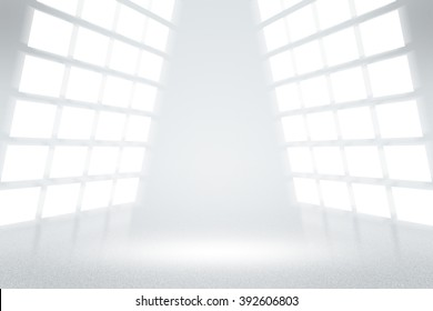 Infinite White TV Studio Background