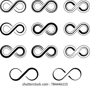 Infinity Sign Collection Raster Art Illustration