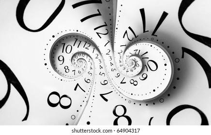 Infinity time. Digital generated