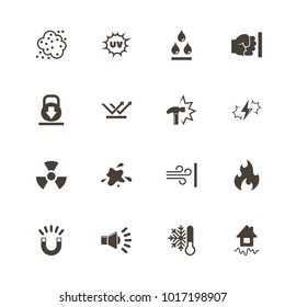 Influence icons. Flat Simple Icon - Gray Illustration on White Background.