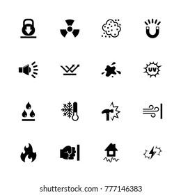 Influence icons. Flat Simple Icon - Black Illustration on White Background.