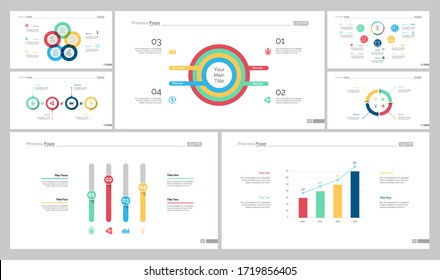 Infographic design set can be used for workflow layout, diagram, report, presentation, web design. Business and planning concept with cycle, process, doughnut, bar, flow, pie and line charts