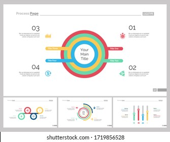 Infographic design set can be used for workflow layout, diagram, report, presentation, web design. Business and finance concept with doughnut, process, pie and bar charts.