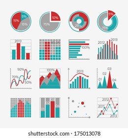 Infographic elements for business report presentation or website isolated  illustration