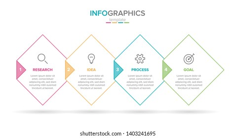 infographic label template with icons. 4 options or steps. Infographics for business concept. Can be used for info graphics, flow charts, presentations, web sites, banners, printed materials.