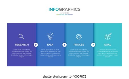 infographic label template with icons. 4 options or steps. Infographics for business concept. Can be used for info graphics, flow charts, presentations, web sites, banners, printed materials