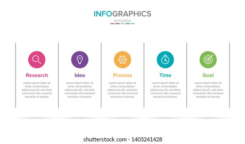 infographic label template with icons. 5 options or steps. Infographics for business concept. Can be used for info graphics, flow charts, presentations, web sites, banners, printed materials.