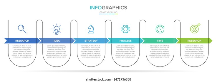 infographic label template with icons. 6 options or steps. Infographics for business concept. Can be used for info graphics, flow charts, presentations, web sites, banners, printed materials.