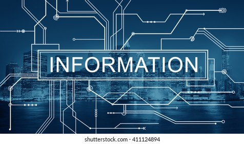 Information Circuit Board Graphics Concept