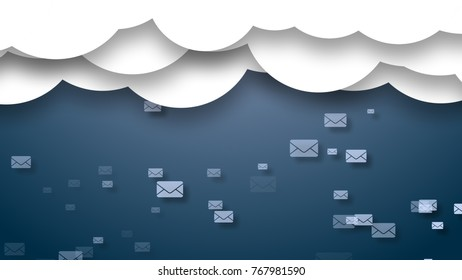 information cloud spam. Lots of spam. Beautiful drawing for background
