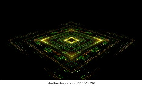 Information CPU engineering.Modern technology. Computer communications. Light effect. Big data center. Super system. Smart core. Research and development. Virtual reality.