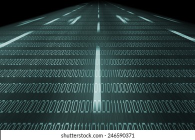 information highway background in blue