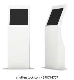 information kiosk. Information terminal. interactive kiosk on white background