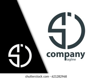 Initial Letter SI SJ  With Linked Circle Logo