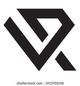 Initial Letter vr Logo Design