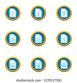 Initiate icons set. Flat set of 9 initiate icons for web isolated on white background