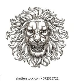 Similar Images Stock Photos Vectors Of Lion Head Door