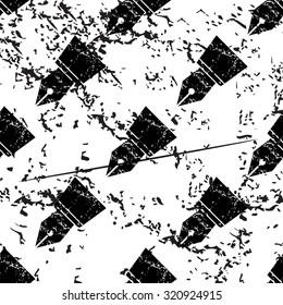 Ink pen pattern, grunge, black image on white background