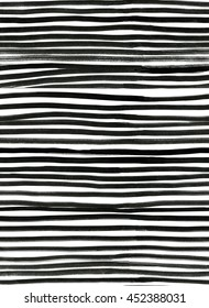 Ink Seamless Line Pattern. Abstract print with brush strokes. Monochrome hand drawn texture. Artistic tileable black and white background